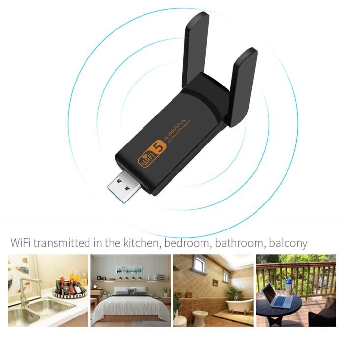 Jual Wireless Network Card USB 3 0 Wifi Adapter Dual Band WD-5601AC - DKI  Jakarta - Quickto | Tokopedia