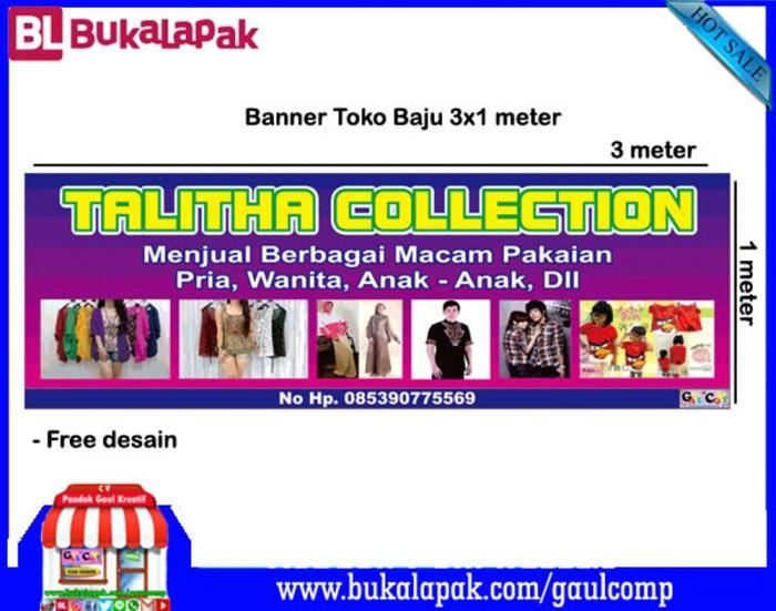 Contoh Desain Banner Pakaian - desain spanduk keren