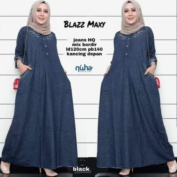 Jual Dress Gamis Dres Jumbo Dres Jeans Gamis Levis Jeans Blazz Maxy Kota Surakarta Medina Fashion Shop Tokopedia