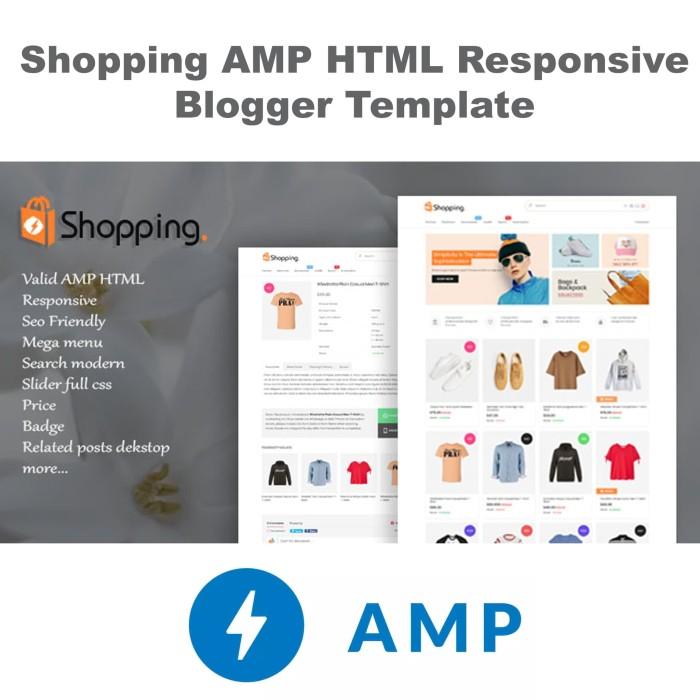 Jual Shopping AMP HTML Responsive Blogger Template