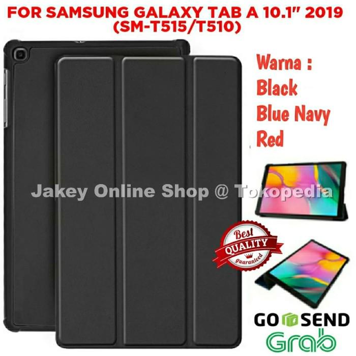 Foto Produk Case Samsung Galaxy Tab A 10,1 2019 T515 / T510 SMART FLIP COVER Tab - Hitam dari Jakey Online Shop