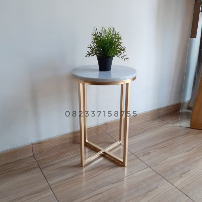 Jual Meja Sudut Corner Table Terlaris Top Marmer Kaki Besi Model Silang Kab Jepara Mr Furniture Design Tokopedia