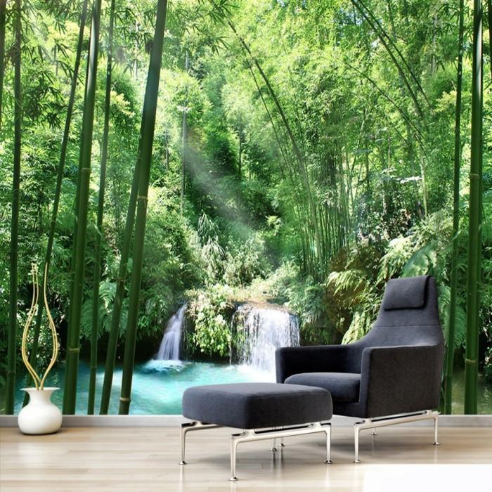 Jual Custom 3d Wall Murals Wallpaper Bamboo Forest Natural