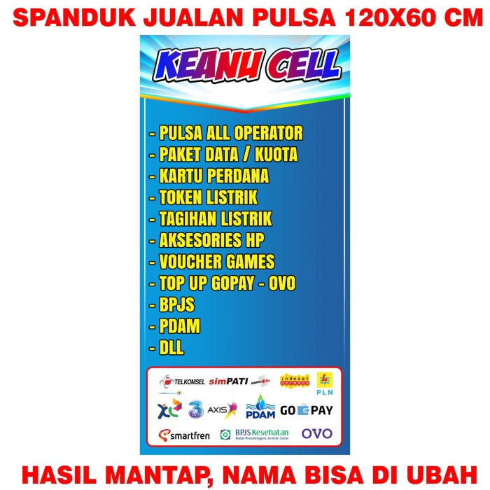 20+ New For Banner Konter Pulsa Terbaru
