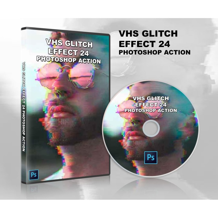 Jual PHOTOSHOP ACTION - VHS Glitch Effect_24 - Kab  Bantul - henhentoserba  | Tokopedia