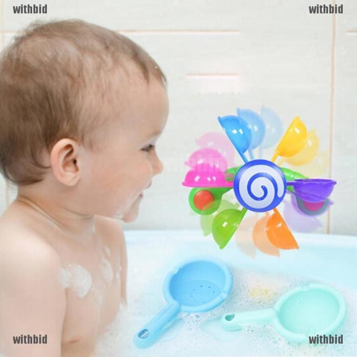 Foto Produk Baby Kids Bath Scoop Windmill Fun Toy Home Bathroom Bathtime Play Toys dari Rhi3na Shop