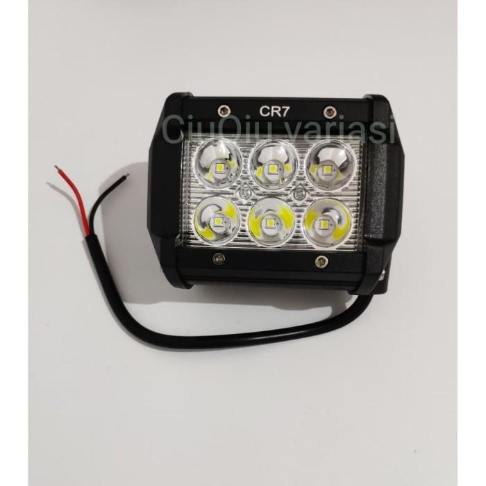 TERLARIS!!! Lampu Tembak LED CREE BAR 6 Mata CR7 SEDIA JUGA Lampu led - Lampu tumblr - Lampu sepeda - Lampu bts - Lampu hias