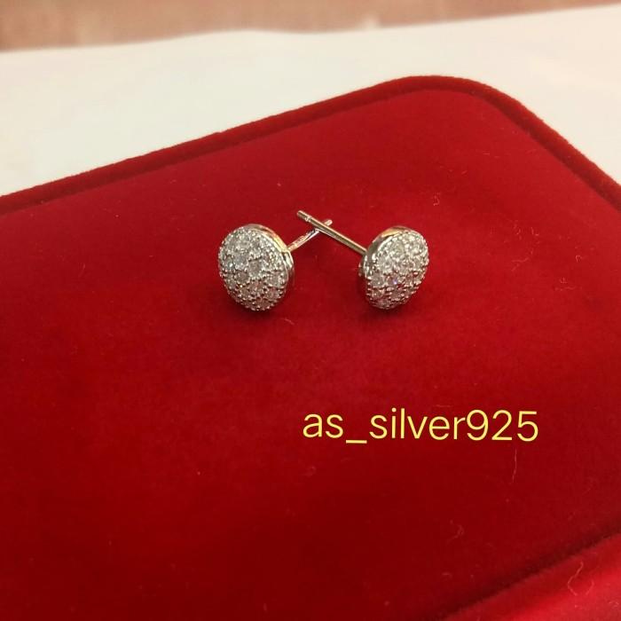 Foto Produk giwang/anting tusuk perak925 berlapis emas putih/perhiasan silver925 dari AbshaSilver925