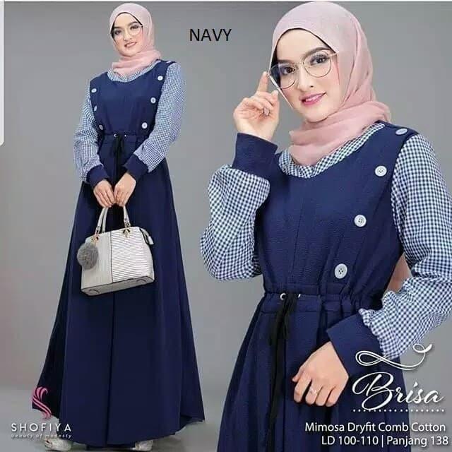Foto Produk ZANZEA Long Dress Maxi Vintage Lengan Panjang Motif Print Bunga Ada dari Muzaki78