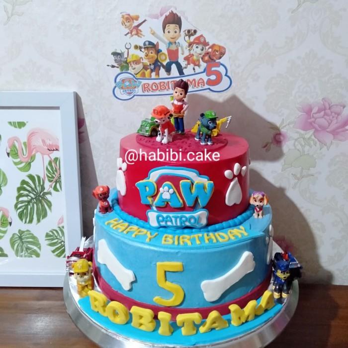 Jual Kue Ultah Paw Patrol Cake Ultah Anak Laki Laki Topper Paw Patrol Kota Tangerang Selatan Baju Alya Shop Tokopedia
