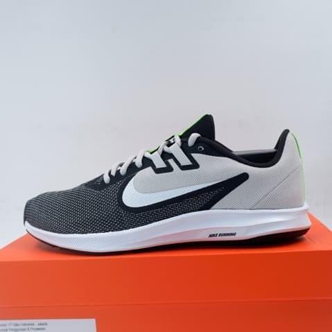 Sepatu lari/running nike downshifter 9 black white grey aq7481-007 ori