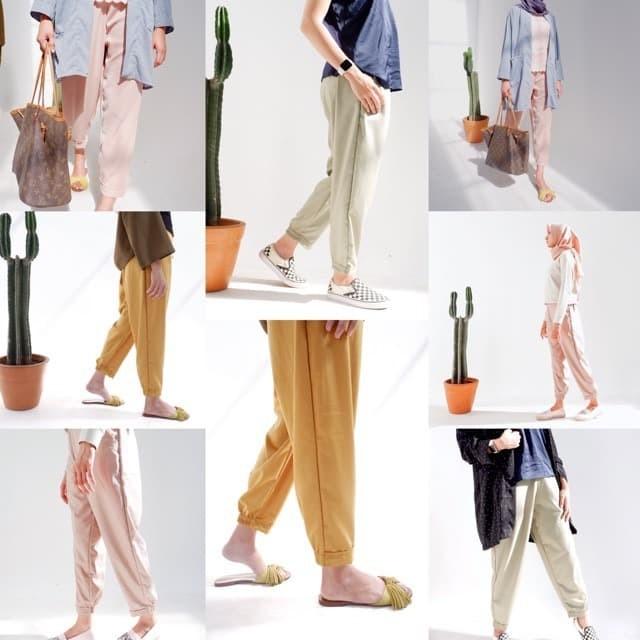 Foto Produk Celana baggy pants premium by AARA - NUDE dari Manomouse