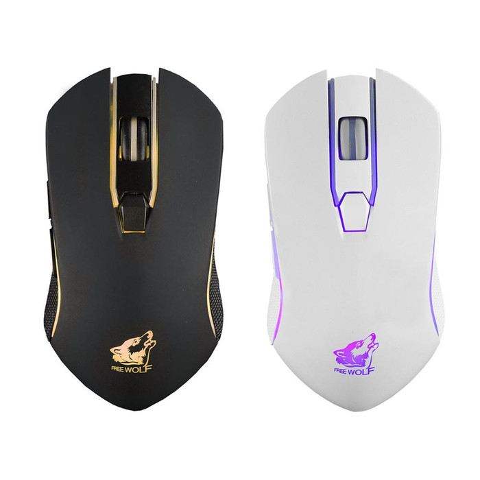 Foto Produk Mouse gaming wireless X9 sistem charge - Hitam dari Mentari Computer.