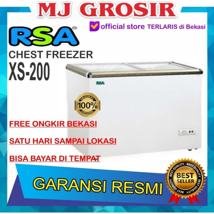 harga Rsa xs 200 chest freezer box sliding 200 l lemari pembeku by gea Tokopedia.com