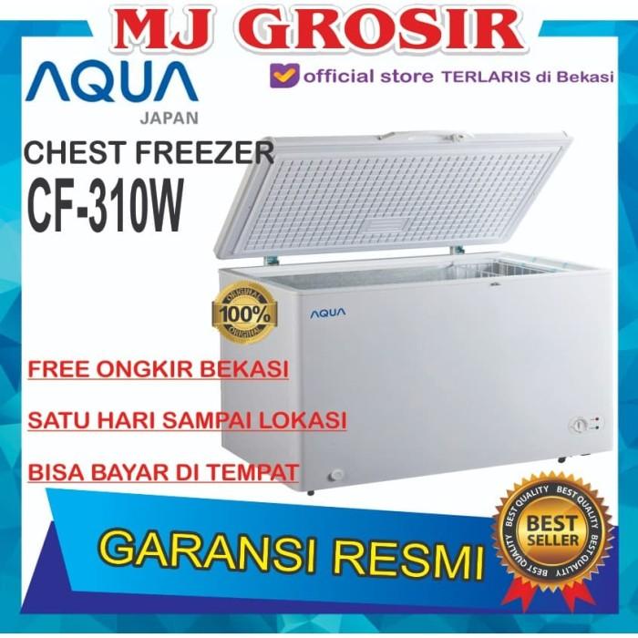 harga Aqua aqf 310 w chest freezer box 300 l lemari pembeku 300 liter Tokopedia.com