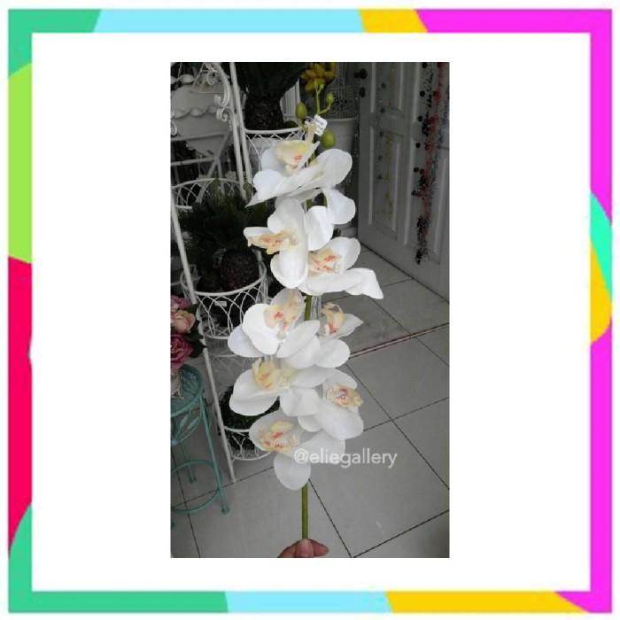 Jual Bunga Anggrek Latex Artificial Orchid Import Putih Anggrek