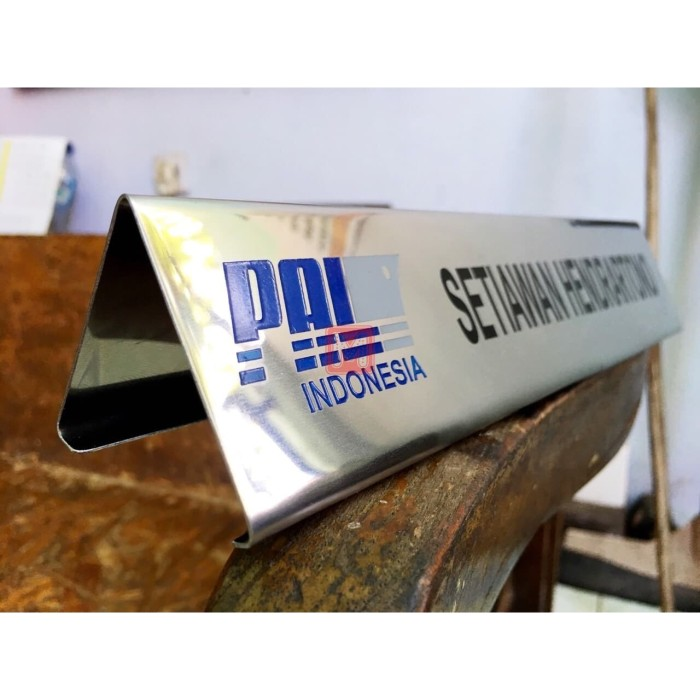 Jual Nama Meja / Name Desk Gravir Stainless 25x7cm