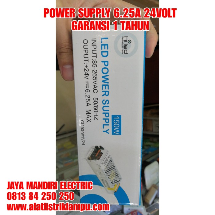 harga Power supply hiled 6.25amper 24volt 150watt cl150-w1v24 6.25a 24 volt Tokopedia.com