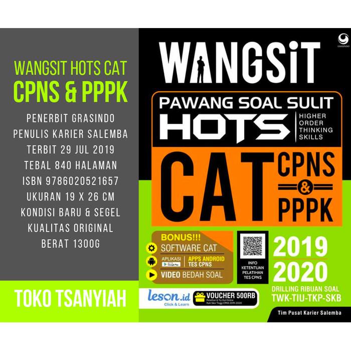 Jual Buku Kisi Kisi Cpns Latihan Soal Cpns Wangsit Hots Cat Cpns Pppk Dki Jakarta Toko Tsaniyah Tokopedia