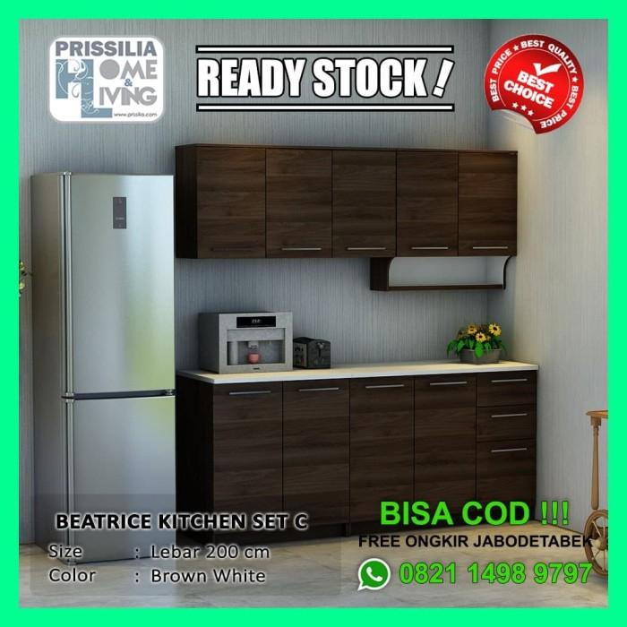 Jual Prissilia Home Living Beatrice Kitchen C Set Dapur Minimalis Coklat Brown Wallnut Kota Tangerang Prissilia Home Living Tokopedia