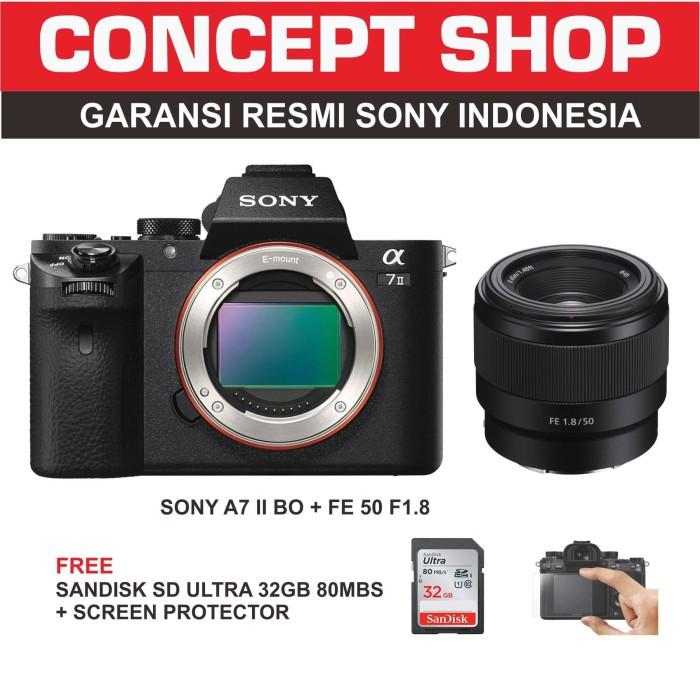 harga Sony a7mii + sel 50 f18 f / a 7 mii / a7 mii / a7mii / a 7mii resmi Tokopedia.com