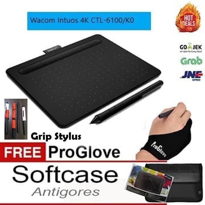harga Wacom intuos 4k ctl 6100 /k0 medium black softcaseantigores dan glove Tokopedia.com