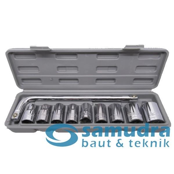 Foto Produk Kunci Sok Set 10 Pcs HDT Kunci Sock Socket Wrench Mobil Motor dari SEPATU KECHE