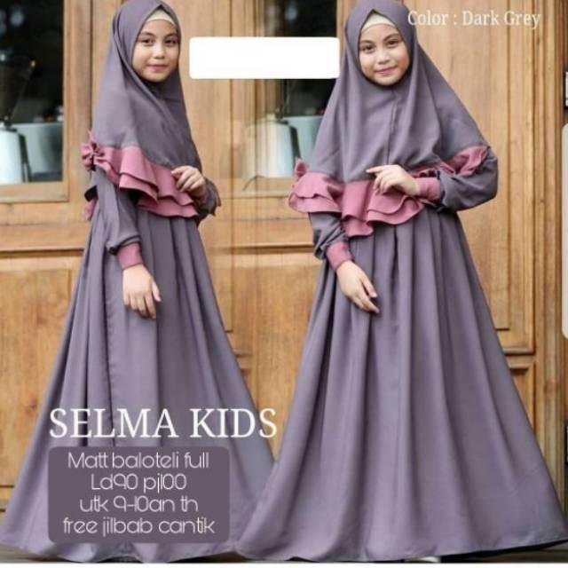 Jual Kid Selmakid Fashion Muslim Gamis Anak Perempuan Umur 9 10 Tahun Baju Kota Surabaya Savara Hijab Tokopedia