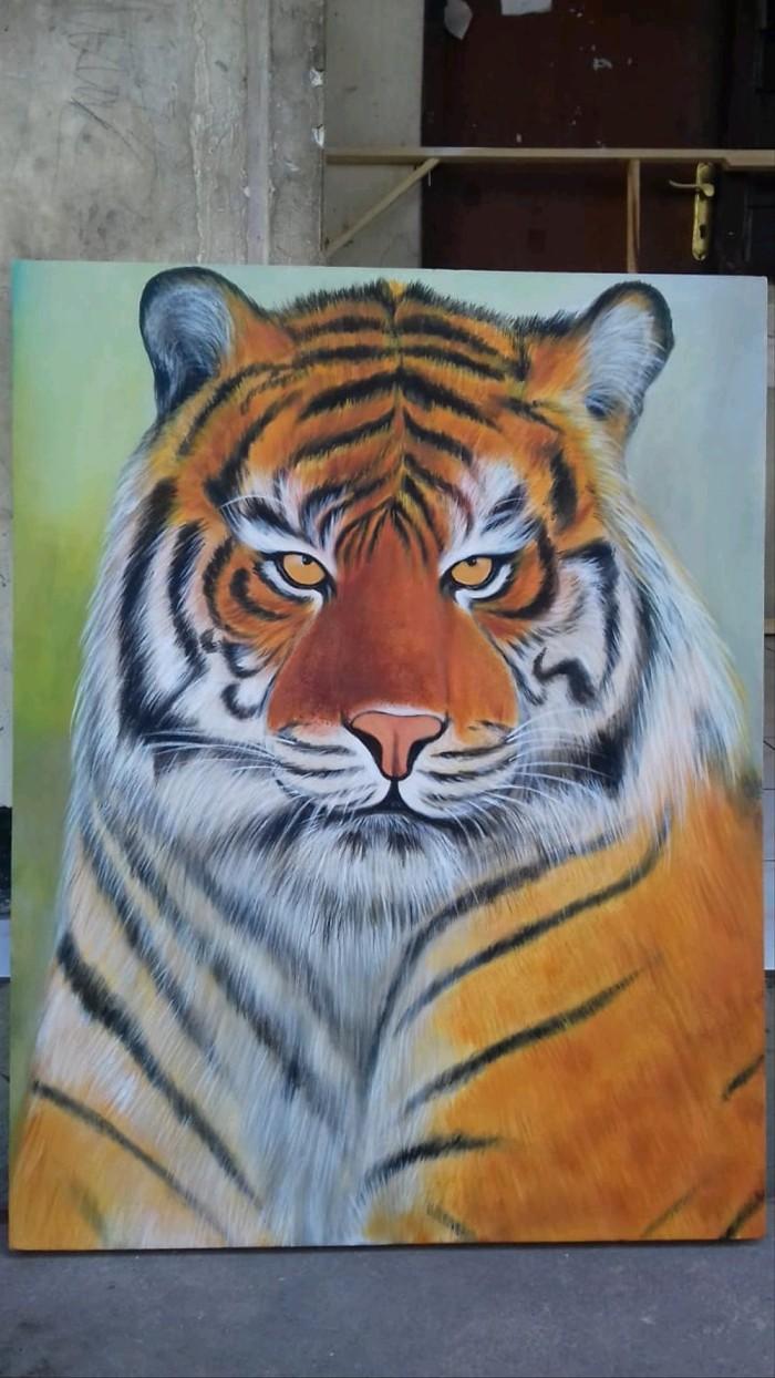 Jual Lukisan Harimau Kanvas B Home Stuff Kab Lamongan Agungutomo174