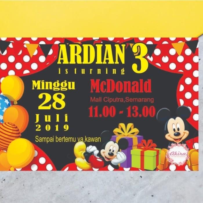 Desain Undangan Ulang Tahun Mickey Mouse - kartu ucapan ...