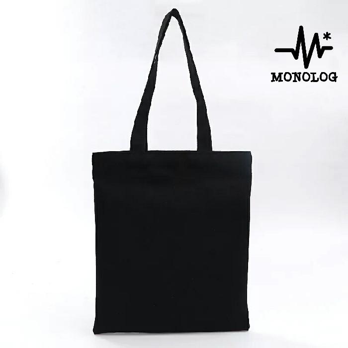 Foto Produk MONOLOG 30x35 Drill Tote bag Shopping Tas Kanvas Wanita Pria Polos dari MONOLOG Bdg