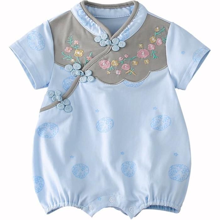 Foto Produk BABY CHEONGSAM ROMPER chinese new year baju imlek bayi cheongsam bayi - 66, Merah Muda dari Baby Angeline Shop