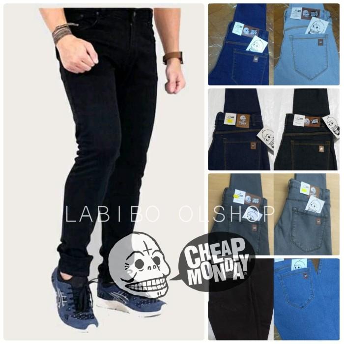 Foto Produk Celana Jeans Skinny Stretch Cheap Monday Hitam - Hitam, 27 dari Labibo Olshop