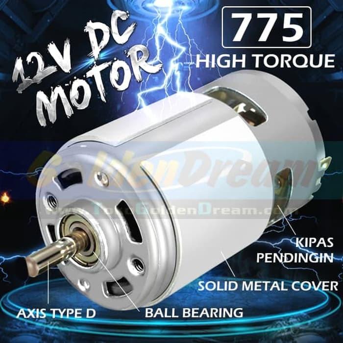 Foto Produk Motor DC 775 12v High Torsi Speed Dinamo Mesin Power Tools DIY 24v 30v dari VISITEK