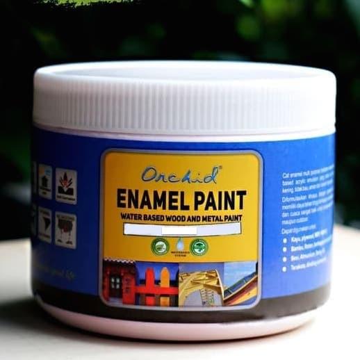 Foto Produk Cat Besi dan Kayu Waterbased Orchid Enamel Paint Solid color minican dari Semesta_Satu