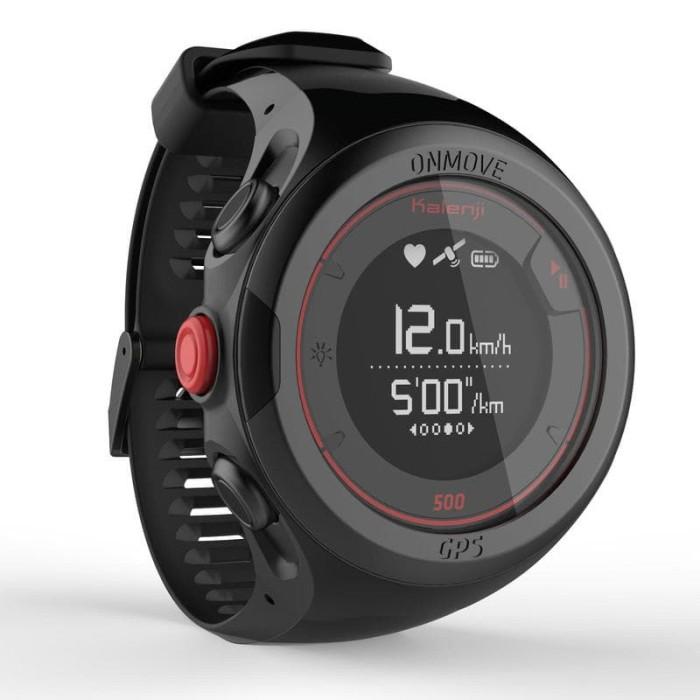 harga Onmove 500 gps running watch heart rate monitor - black Tokopedia.com