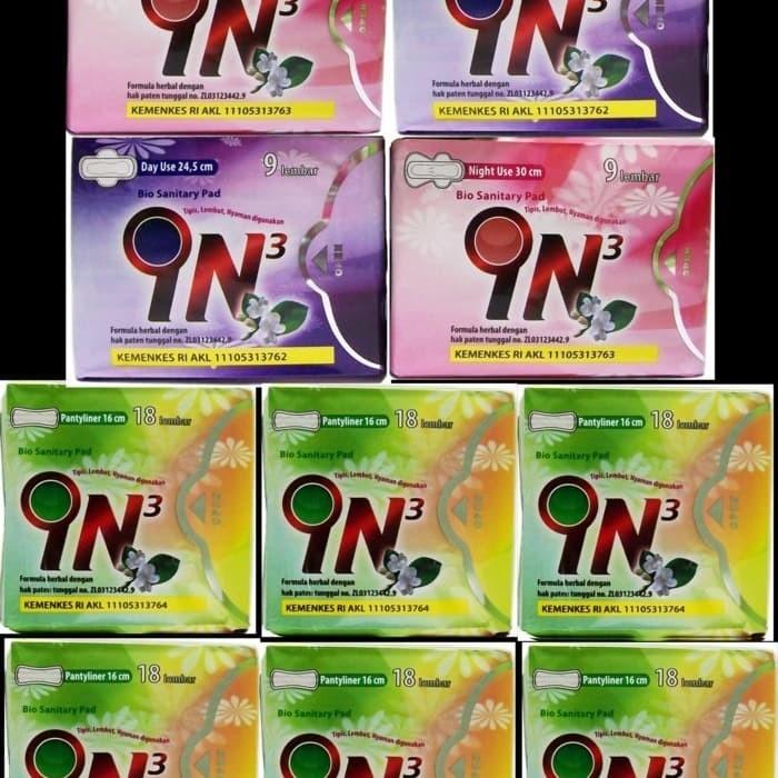 Foto Produk pembalut herbal IN3 combinasi ( 6 pantyliner, 2 day use , 2 night use) dari Mark Ryden Shop888