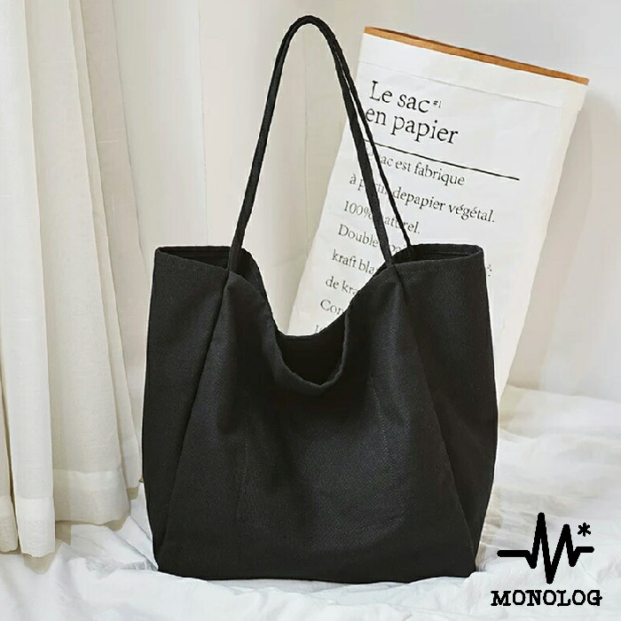 Foto Produk MONOLOG 35x38x24 OVERSIZED Large Canvas Tote bag Shopping Tas Kanvas dari MONOLOG Bdg