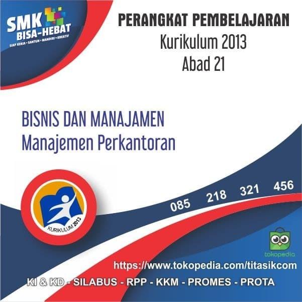 Foto Produk RPP SMK MAK Abad 21 Jurusan Bisnis dan Manajemen OTK Perkantoran dari ti Tasik Com
