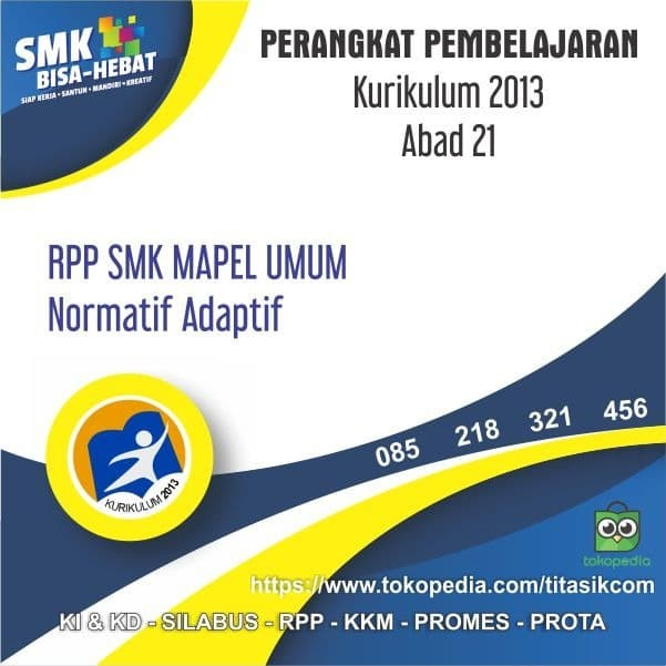 Foto Produk RPP SMK / MAK Abad 21 Mapel Umum Semua Jurusan Kurikulum 2013 Revisi dari ti Tasik Com