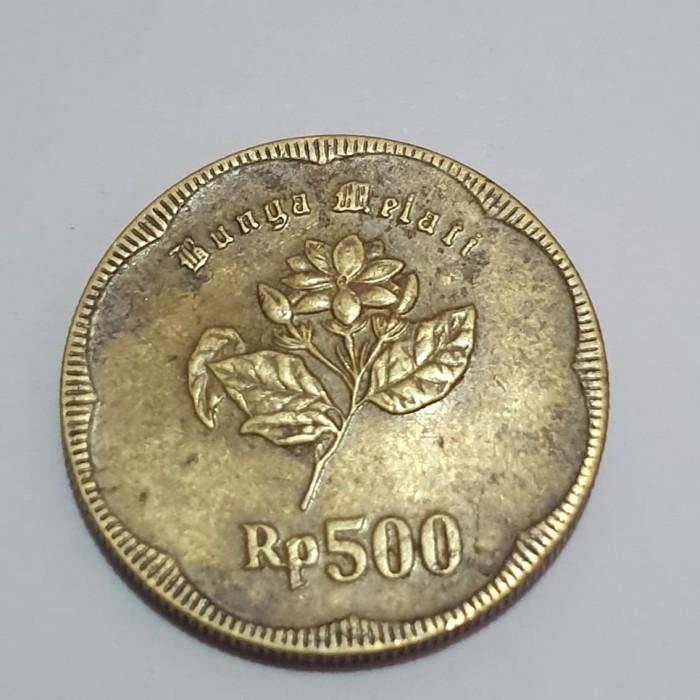 Gambar Uang Koin 500 Rupiah Jual Uang Koin Logam Emas 500 Rupiah Gambar Bunga Melati Tahun