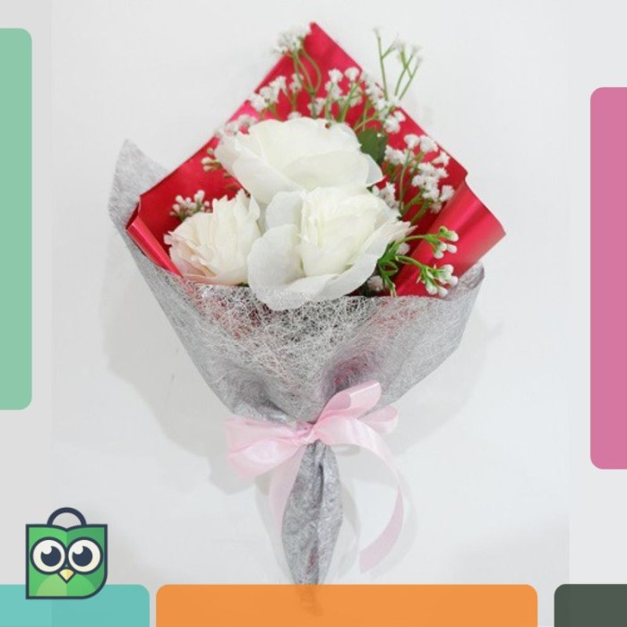Jual Promo Wanflower Buket Bunga Mawar X3 Baby Breath Putih Keren Jakarta Barat Yanitokyo Tokopedia