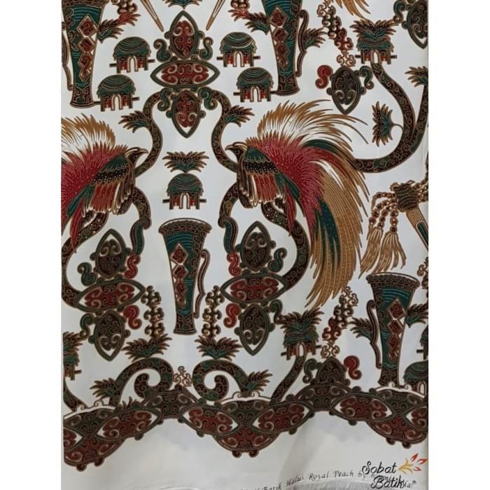 Foto Produk Kain Batik Semi Sutra Motif Papua 51110 Putih dari Sobat Batik