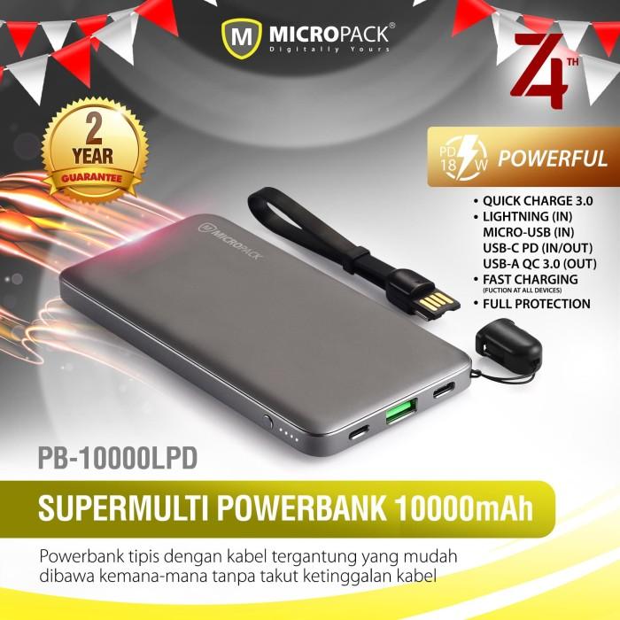 harga Micropack power bank 10.000 mah power delivery 18w pb-10000.lpd Tokopedia.com