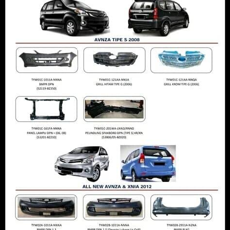 Foto Produk Grill depan radiator bemper bumper avanza tipe g Chrome dari mobil part shop