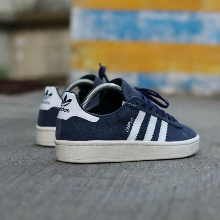 Jual Sepatu Adidas Campus Navy List Putih Jakarta Timur
