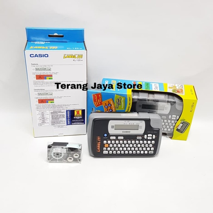 Foto Produk Casio Label Printer KL-120 Label It KL 120 Printer Label Casio KL120 dari Terang Jaya Store