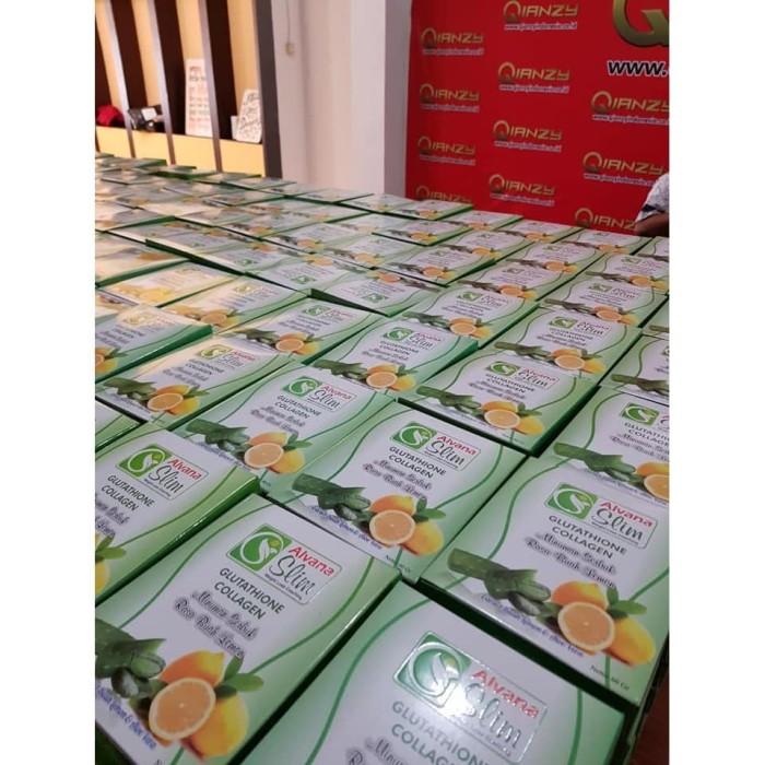 Foto Produk Program Diet Alvana Slim 6 Box Obat Pelangsing Alami Rasa Lemon Ampuh dari Istiqomah-Store