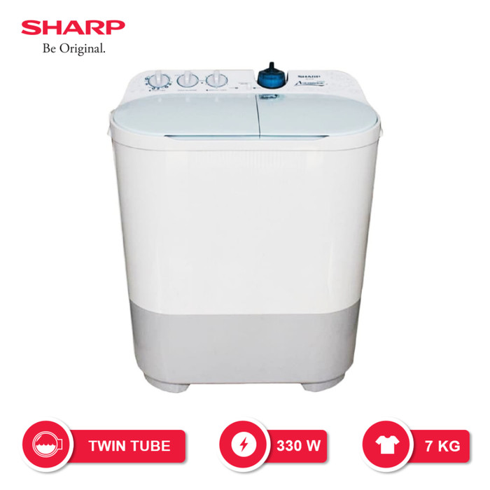 Jual Sharp Mesin Cuci Twin Tub 7 Kg Es T77f Pbk Garansi Resmi Jakarta Barat 89 Elektronik Tokopedia
