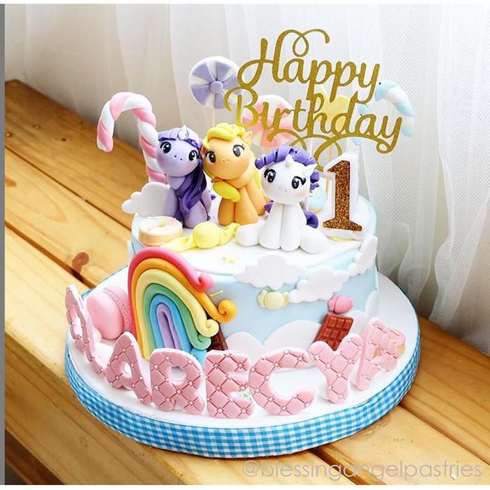Jual My Little Pony Birthday Cake Kue Ulang Tahun Enak Custom Bolu Rainbow Kota Tangerang Blessing Angel Tokopedia